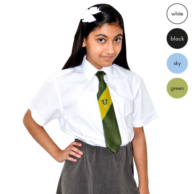 CKL Schoolwear TWINPACK Girls Fitted Blouse Cap Sleeve CBLG07