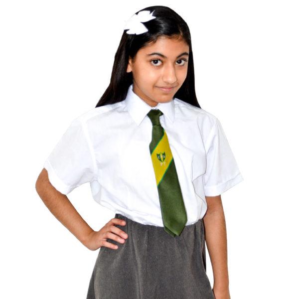 Girls Fitted Blouse Cap Sleeve-CBLG07-CKL-Girls-Fitted-blouse-cap-sleeve-black