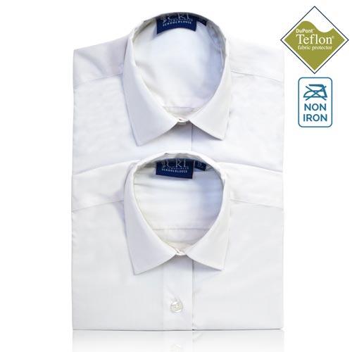 CKL Schoolwear TWINPACK Girls School Blouse S/S-CBLG12-white