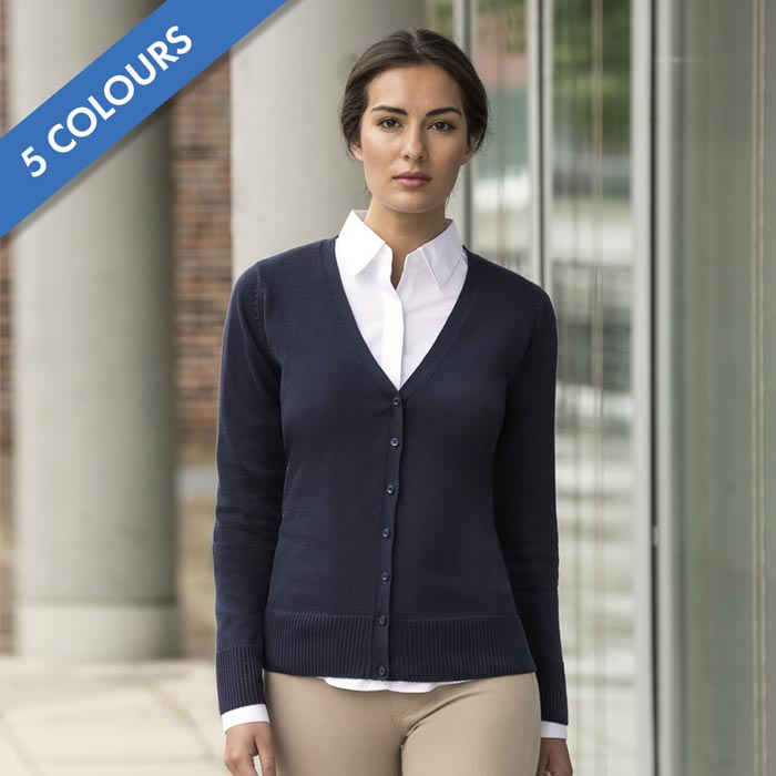 JCAL715-Ladies V-Neck Knitted Cardigan
