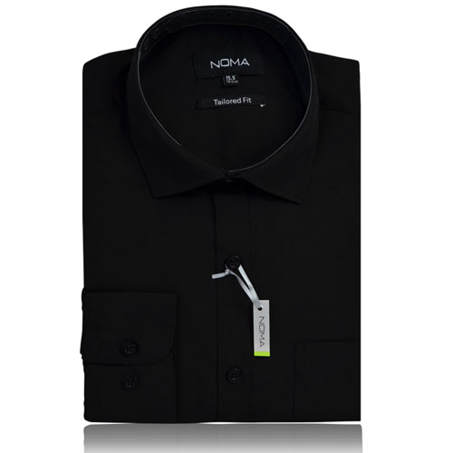 NSHA01T-Noma Men's Tailored Classic Shirt L/S-black