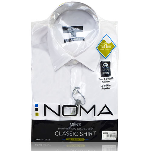 NSHA01T-Noma Men's Tailored Classic Shirt L/S-white-pck