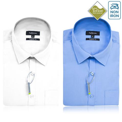 Noma Mens Classic Short Sleeve Shirt NanoTech Fabric - NSHA02