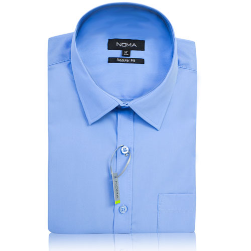 NSHA02-Noma Men's Tailored Classic Shirt S/S-blue