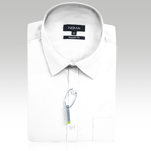 NSHA02-Noma Men's Tailored Classic Shirt S/S-white