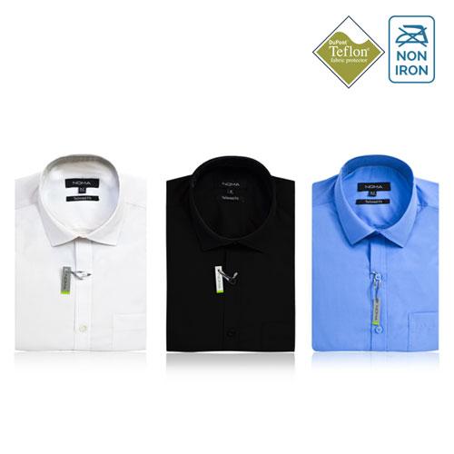 Noma Mens Tailored Classic Short Sleeve Shirt NanoTech Fabric - NSHA02T