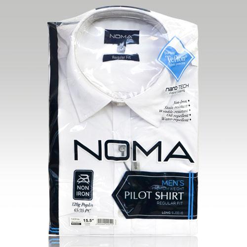 NSHA03-Noma Men's Pilot Shirt L/S-white-pck