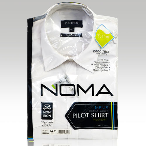 NSHA03T-Noma Men's Tailored Pilot Shirt L/S-white-pck