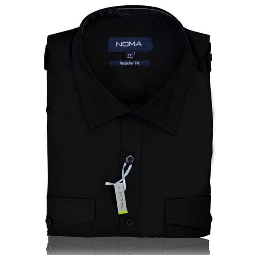 NSHA04-Noma Men's Pilot Shirt S/S-black