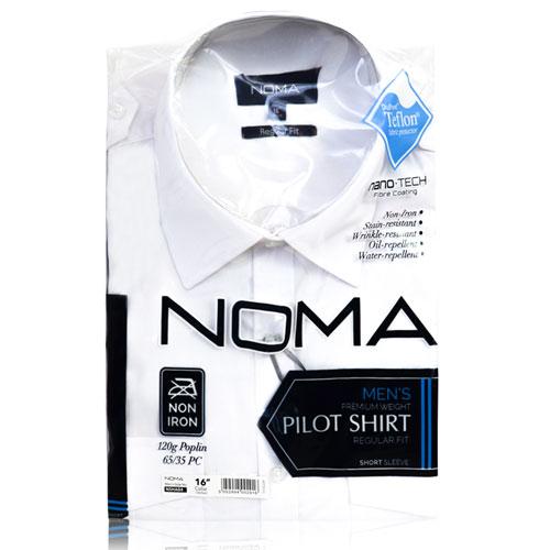 NSHA04-Noma Men's Pilot Shirt S/S-white-pck