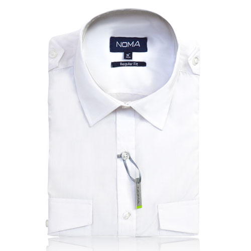 NSHA04-Noma Men's Pilot Shirt S/S-white