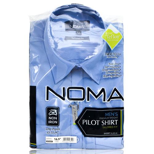 NSHA04T-Noma Men's Pilot Shirt S/S-blue-pck