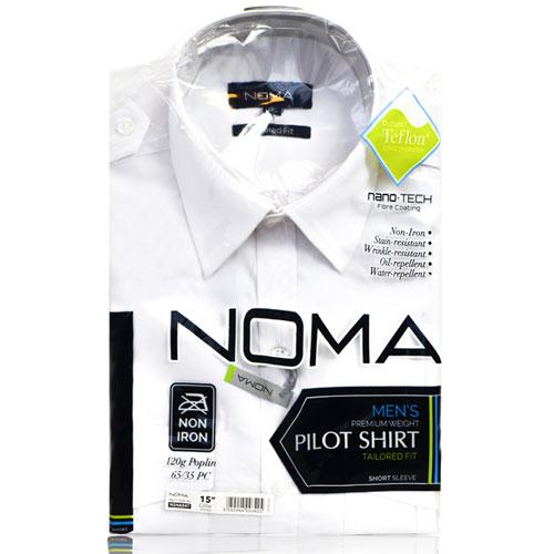 NSHA04T-Noma Men's Pilot Shirt S/S-white-pck