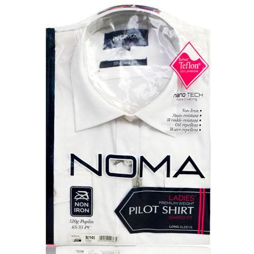 NSHL03-Noma Ladies Classic Shirt L/S-white-pck
