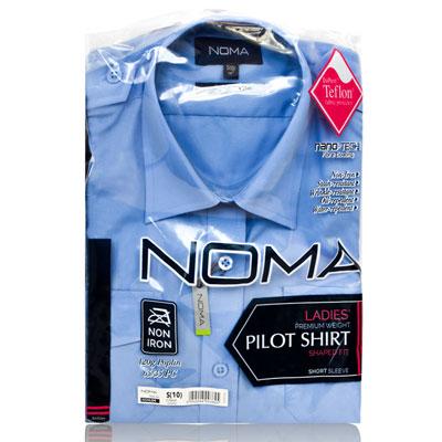 NSHL04-Noma Ladies Pilot Shirt S/S-blue-pck