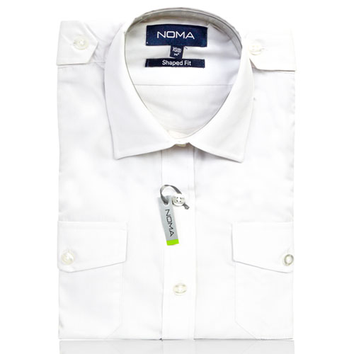 NSHL04-Noma Ladies Pilot Shirt S/S-white