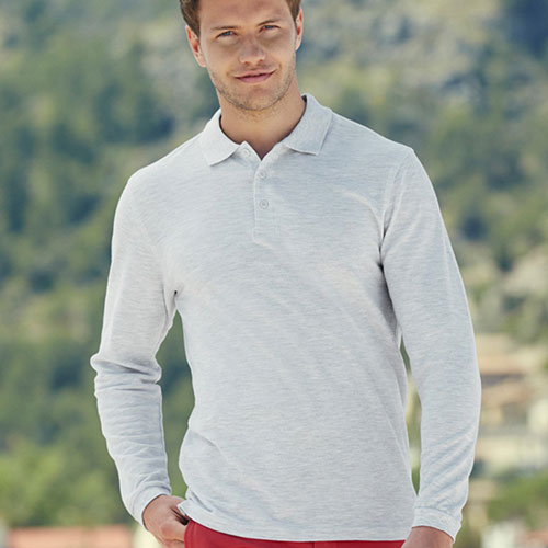 180gsm 100% Cotton Long Sleeve Premium Polo Shirt - SPLPA