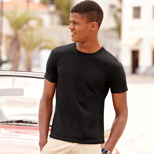 185gsm 95/5 Slim Fit T Short Sleeve - STSFA-black
