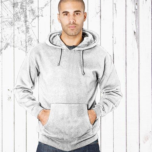 Adults 70/30CP Hooded Raglan SweatsTSA04B-white