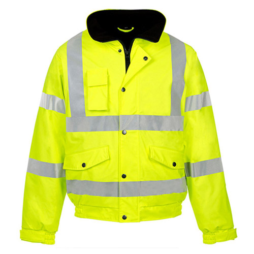 Hi Vis Value Bomber Jacket-WJAA370-yellow
