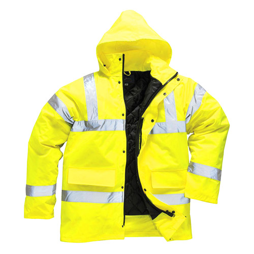 Hi Vis Traffic Jacket-WJAA460-yellow