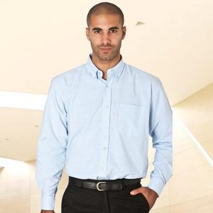 Oxford Shirt Long Sleeve-WSHA05-sky