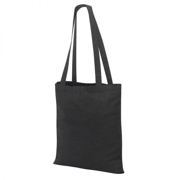 Guildford Cotton ShopperTote Shoulder Bag - GBA4112-black