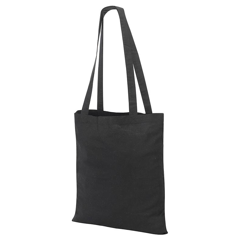 Guildford Cotton ShopperTote Shoulder Bag - GBA4112-black