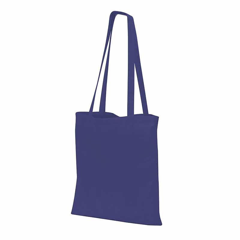 Guildford Cotton ShopperTote Shoulder Bag - GBA4112-navy