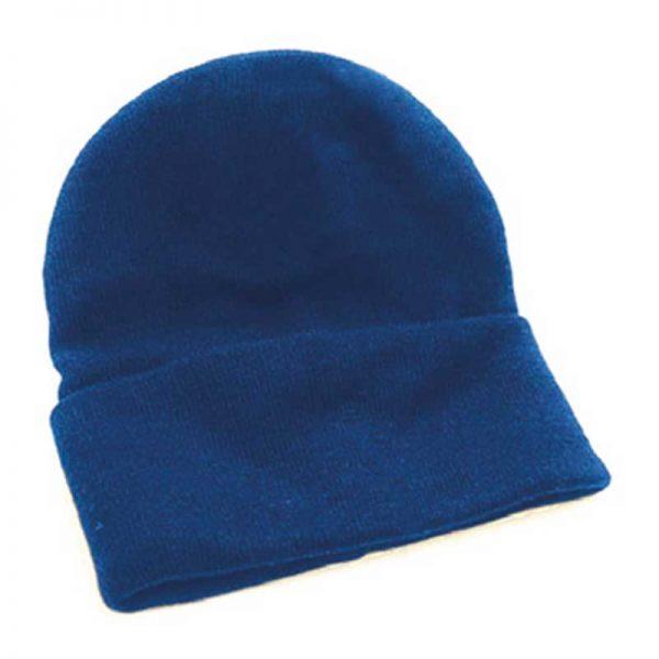 Fine Gauge Knitted Woolly Beanie Hat - GHAA02-royal