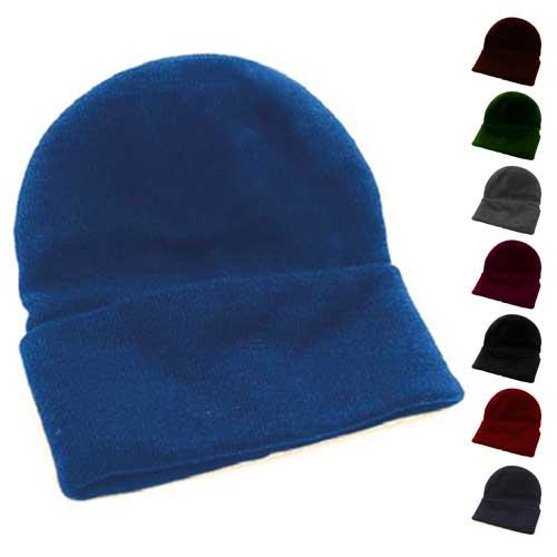 Fine Gauge Knitted Woolly Beanie Hat - GHAA02