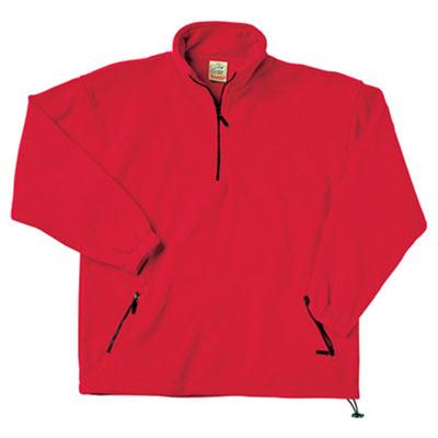 300g 100% Polyester Half Zip Fleece - Half Zip Fleece - SFHZA-red
