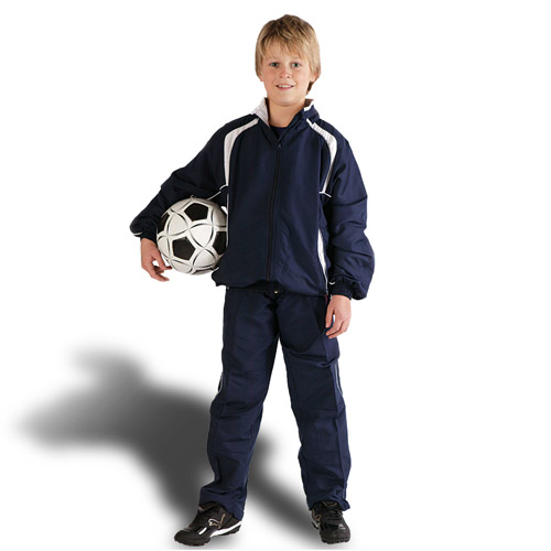 Kids Contrast Track-Suit Top & Bottoms - TTSK02