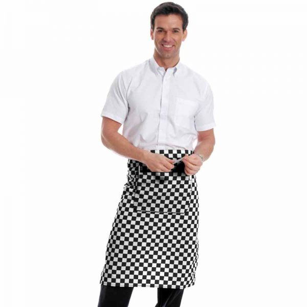 245gsm Waist Apron with Pocket - WAPA01-black-chess