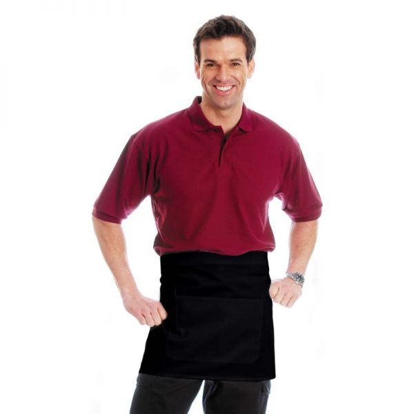245gsm 65/35 PC Bar Apron with Pocket - WAPA03-black