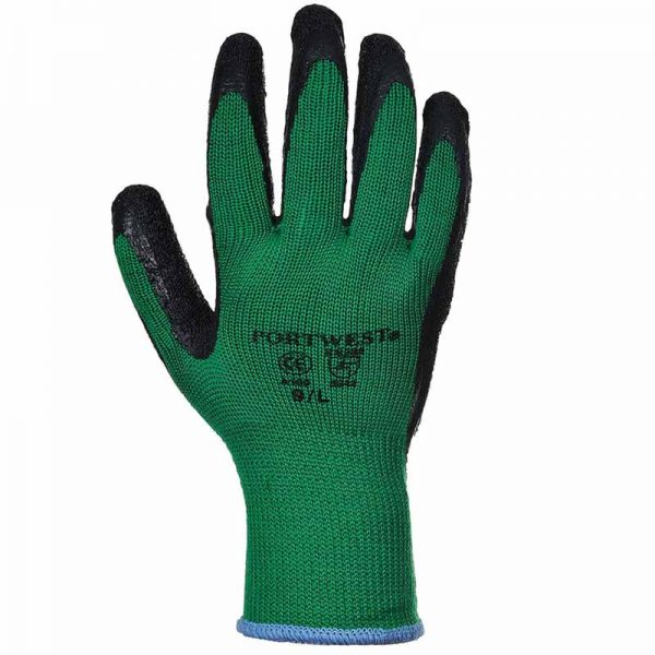 Premium Quality Grip Glove - WGLA100-green-black