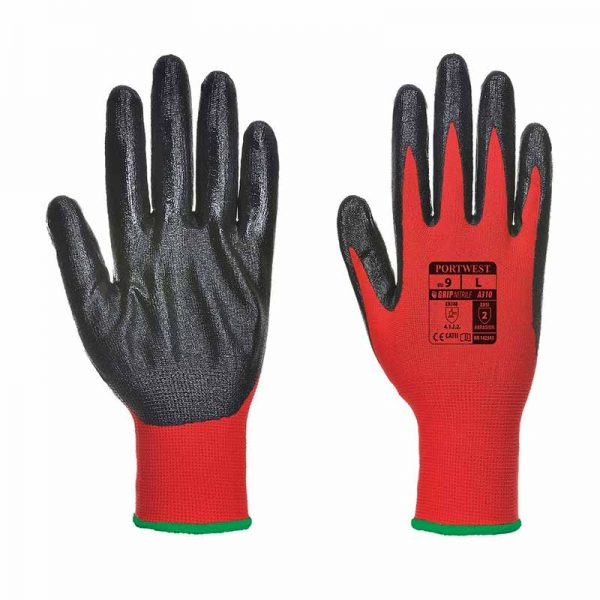 Smooth Nitrile Flexo Grip Nitrile Glove - WGLA310-red