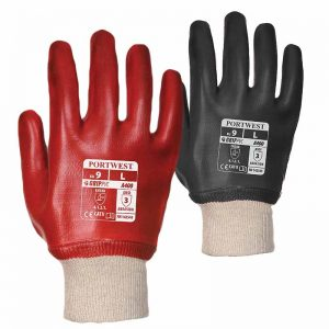 Superb Abrasion PVC Knitwrist Gloves - WGLA400