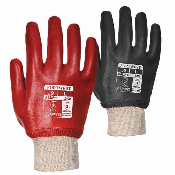 Superb Abrasion PVC Knitwrist Gloves - WGLA400