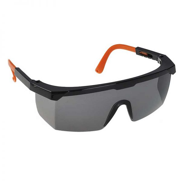 Classic Safety Polycarbonate Eye Screen - WGOA33-Smoke-Lens,-Black-Temple