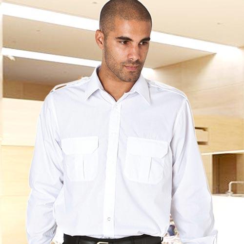 PILOT Shirt Long-Sleeve-WSHA03-white