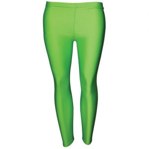 Girls' Hi-Stretch Shiny Leggings-DLEG01S-green