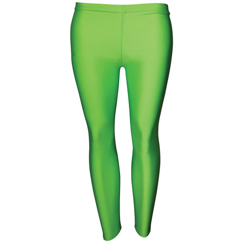 Girls' Hi-Stretch Shiny Leggings-DLEG01S-green