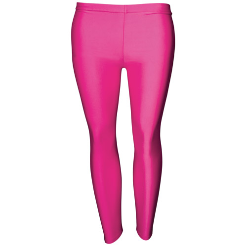 Girls' Hi-Stretch Shiny Leggings-DLEG01S-pink