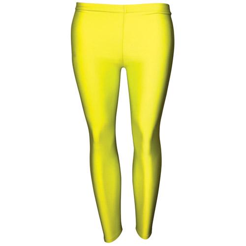 Girls' Hi-Stretch Shiny Leggings-DLEG01S-yellow