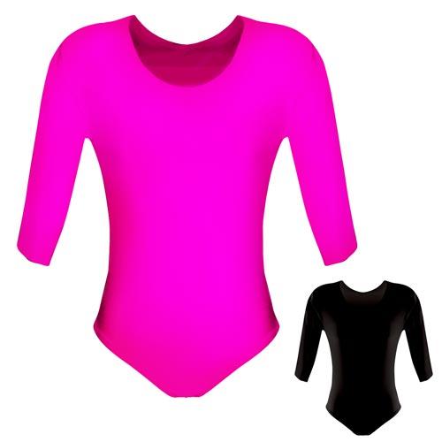 200gsm Girls Hi-Stretch Shiny Long Sleeved Leotards - DLTG02S