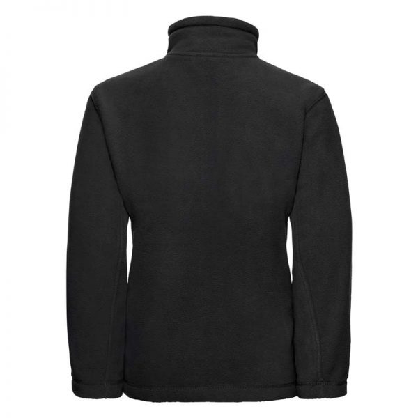 Kids Heavy Full Zip Outdoor Fleece - JFK870-black-back