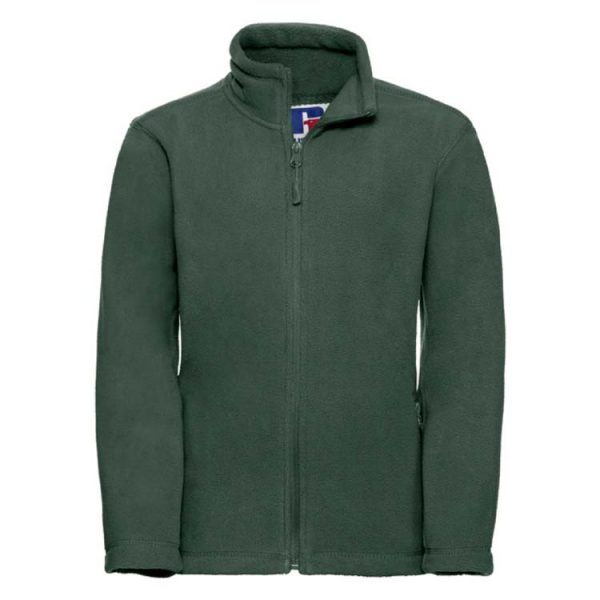 Kids Heavy Full Zip Outdoor Fleece - JFK870-bottle-green