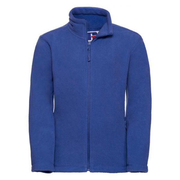 Kids Heavy Full Zip Outdoor Fleece - JFK870-bright-royal