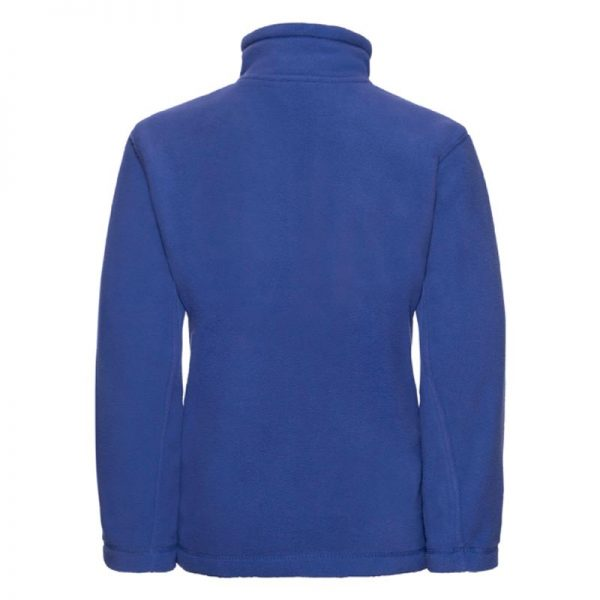 Kids Heavy Full Zip Outdoor Fleece - JFK870-bright-royal-back